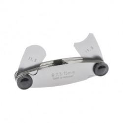 Radienschablonen r7,5-15mm   16 Blatt (konkav & konvex)
