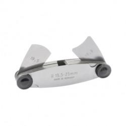 Radienschablonen r15-25mm   15 Blatt (konkav & konvex)