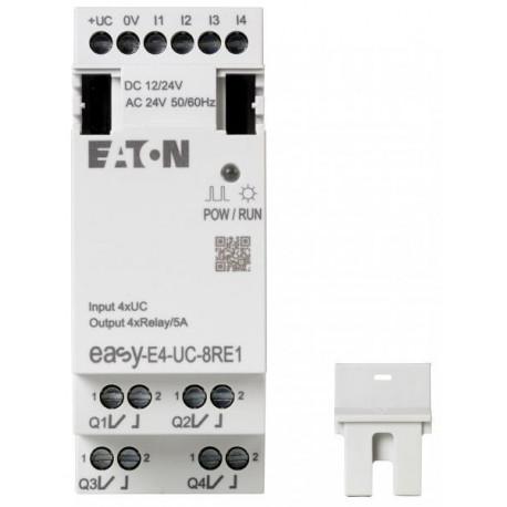 easy-E4-UC-8RE1 Logikmodul, 24 V ac, 4-Eingänge / 4-Ausgänge