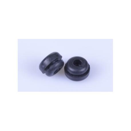 Pilzpuffer (Einrastpuffer) schwarz 15D x 9mm