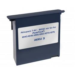 Li-Po Akku 7,4 V - 8000 mA/h für PeakTech 1240/1245/1255/1260/1270/1275