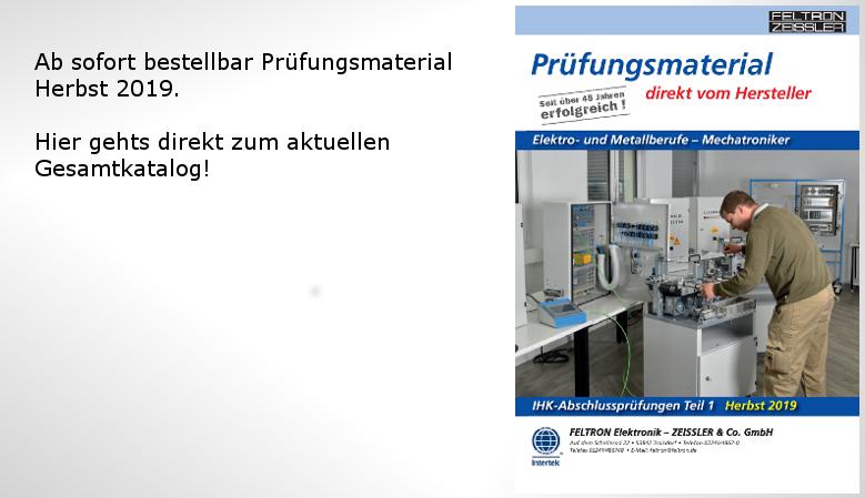 Prüfungsmaterial Elektro- Metall und Mechatroniker Herbst 2019
